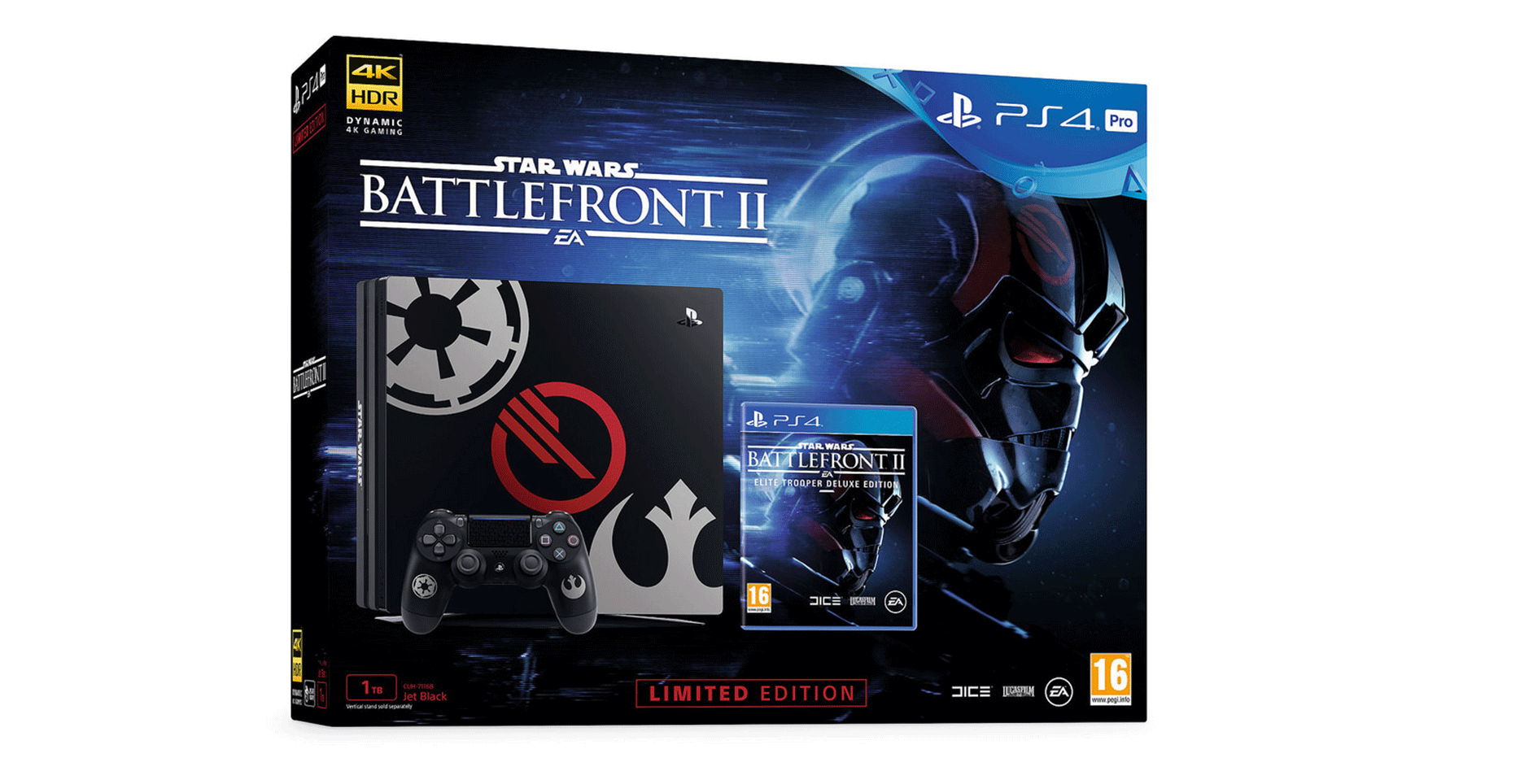 two limited edition star wars battlefront ii ps4 consoles. Black Bedroom Furniture Sets. Home Design Ideas